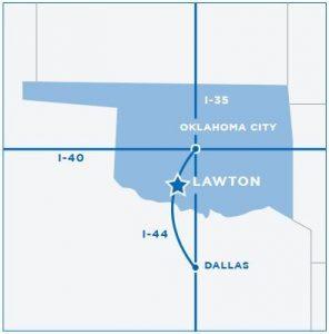Lawton Oklahoma map